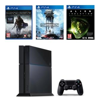 PS4 1TB 1TB + ALIENS + SHADOW OF MORDOR + STARWARS BATTLEFRONT