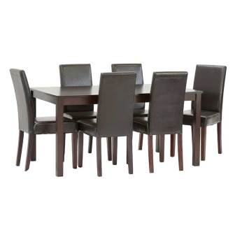E011 150 X 90CM DINING TABLE & 6 X PRINCE DINING CHAIRS